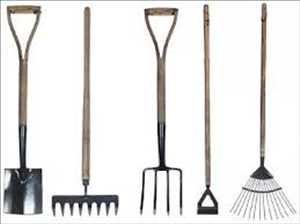 Herramientas para golpear el jardín